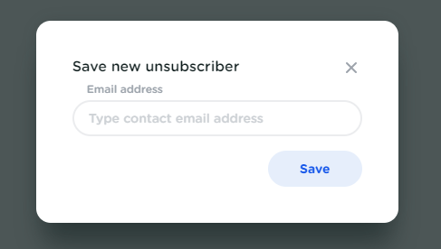 How to unsubscribe email addresses | CM Help Center
