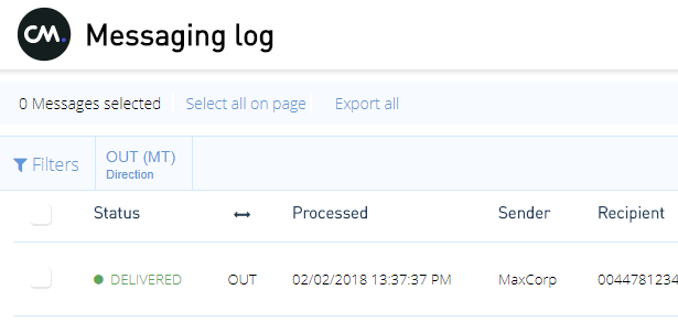 How to export Messaging log results | CM Help Center